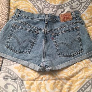 Levi Strauss jean shorts high waisted